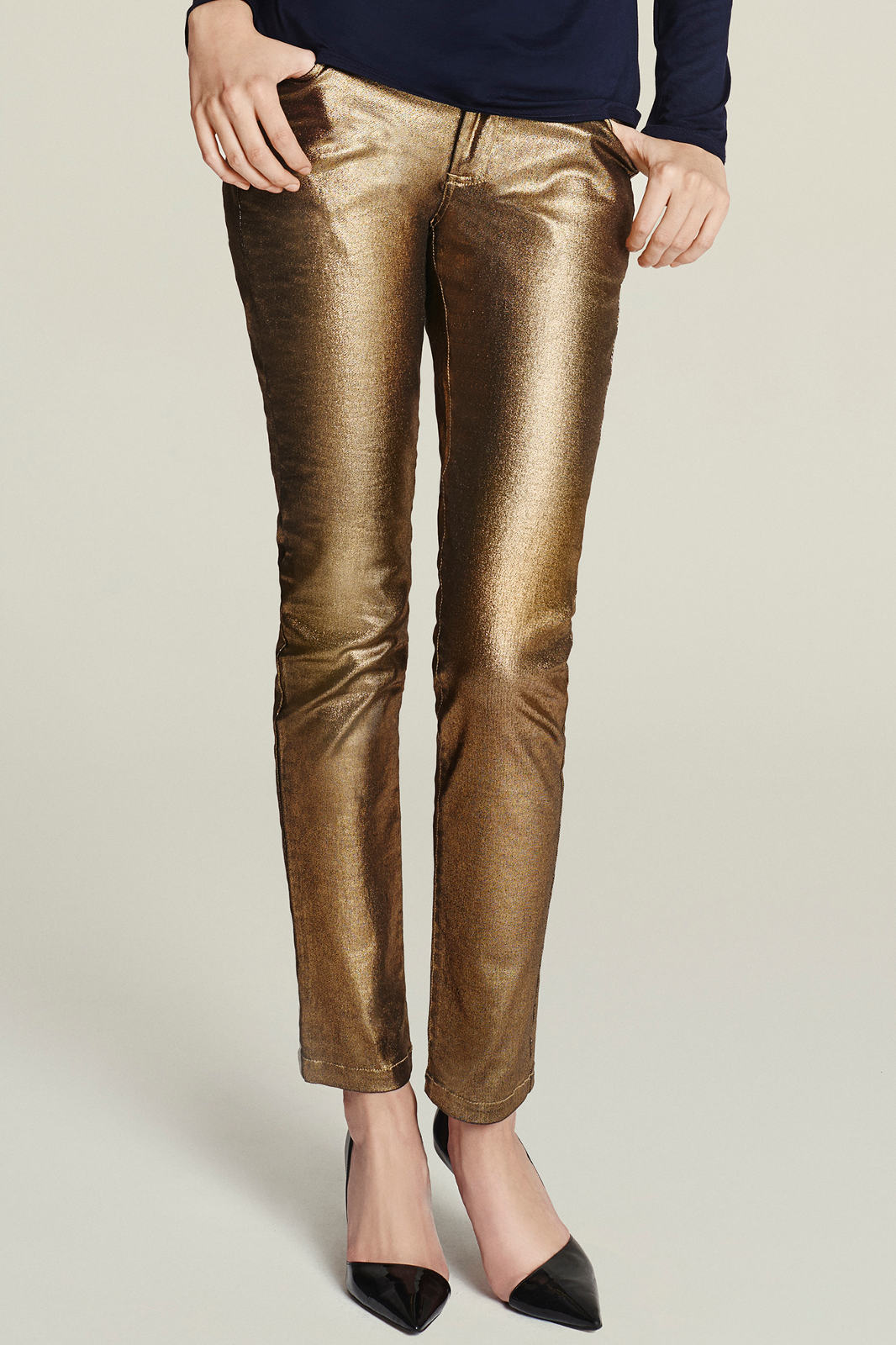 Złote spodnie EVA MINGE