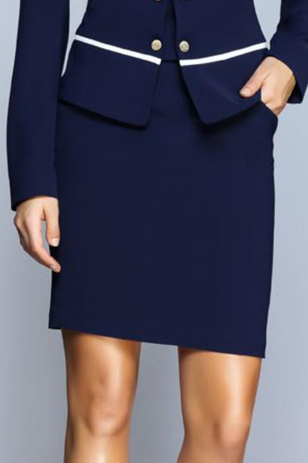 Granatowa spódnica EVA MINGE