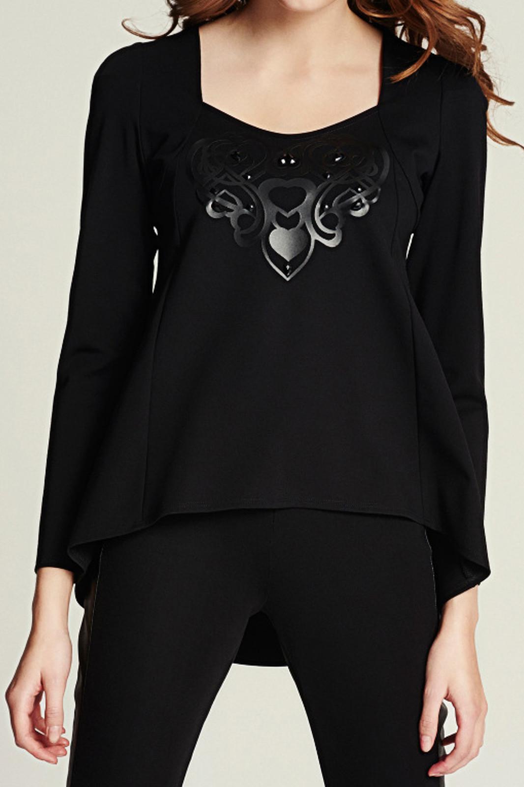 Asymetryczna bluzka z aplikacją EVA MINGE