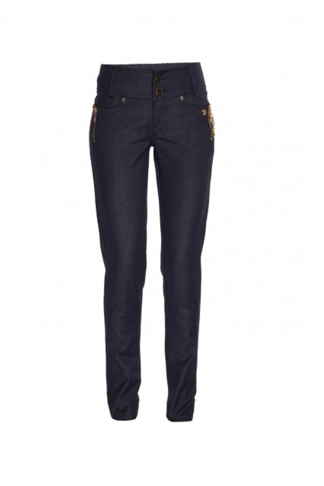 Granatowe spodnie EVA MINGE